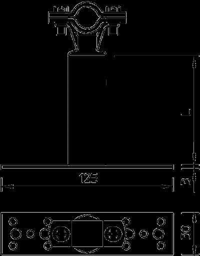 Схема Изолированный дистанционный держатель — арт.: 5408806