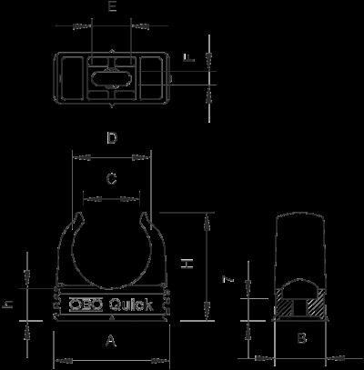 Схема Зажим Quick для труб, огнестойкий — арт.: 2149303