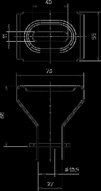 Схема Потолочная скоба, регулируемая — арт.: 6356055