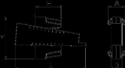 Схема Балочный зажим TKM-Chock из нержавеющей стали — арт.: 1480882