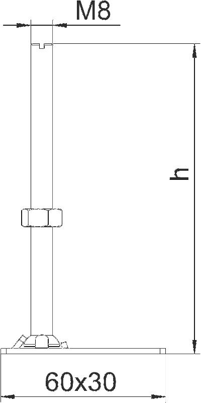 Схема Регулируемая по высоте опора — арт.: 7405814