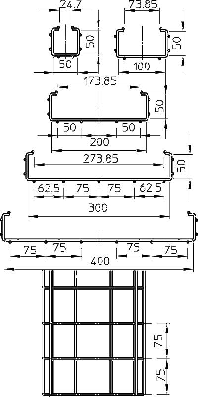 Схема С-образный проволочный лоток CGR — арт.: 6017428