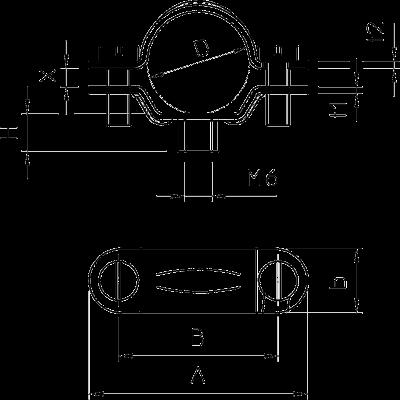 Схема Винтовая дистанционная скоба, усиленная — арт.: 1383094