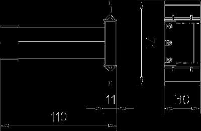 Схема Модуль высокочувствительной защиты с держателем для установки в монтажных коробках GB2 и GB3 — арт.: 5092472