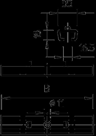 Схема Центральный потолочный подвес — арт.: 6015400