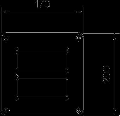 Схема Напольная пластина для электромонтажной колонны ISS140110 — арт.: 6290130