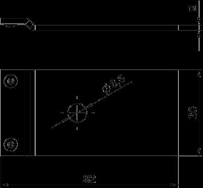 Схема Соединительный угол для кабельного канала, проводящий — арт.: 7400980