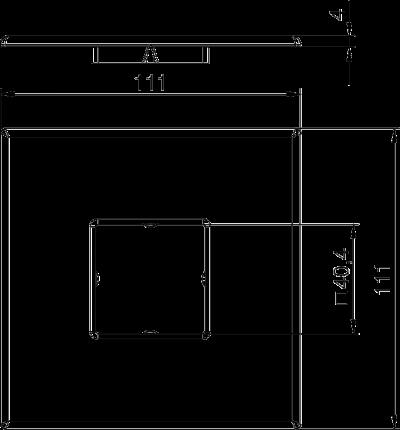 Схема Потолочная накладка для электромонтажной колонны — арт.: 6286800