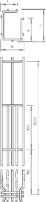 Схема G-образный проволочный лоток Magic с боковой стенкой 75 мм — арт.: 6005538