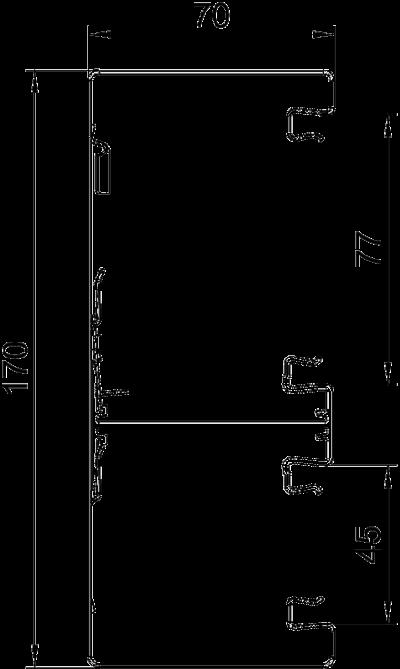 Схема Стальной кабельный короб Rapid 80 высотой 70 мм — арт.: 6278200