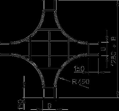 Схема Крестообразная секция — арт.: 6206123