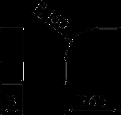 Схема Крышка вертикальной угловой секции 90° нисходящей, с боковой стенкой высотой 35 мм — арт.: 7130760