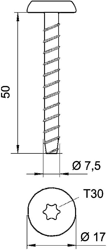 Схема Огнестойкий винтовой анкер — арт.: 3498260
