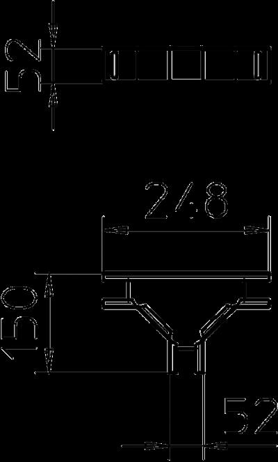 Схема Т-образная секция — арт.: 6074912