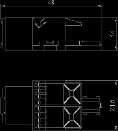 Схема Телекоммуникационный модуль RJ45, CAT. 5e, неэкранированный — арт.: 6117337