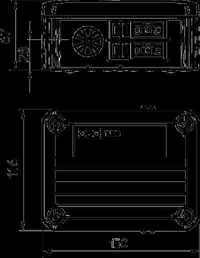 Схема Распределительная коробка T-100 WS 1S4 2S3С с гнездовым и штекерным разъемом Wieland — арт.: 2007874