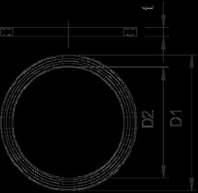 Схема Уплотнительное кольцо с резьбой PG — арт.: 2030071