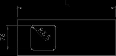 Схема Крышка с отверстием для одинарной монтажной коробки, для кабельного короба высотой 110 мм — арт.: 6194036