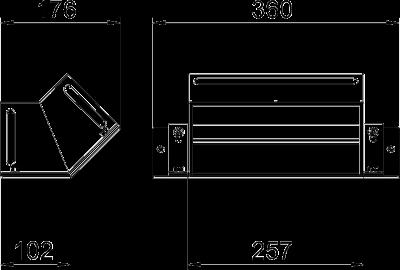 Схема Вертикальная угловая секция 45° восходящая — арт.: 7216450