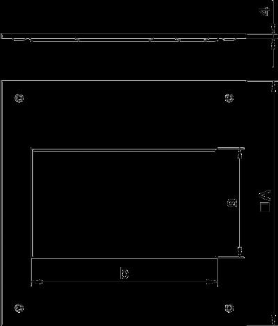 Схема Крышка монтажного основания 250-3 с отверстием для лючка GES2 — арт.: 7400455