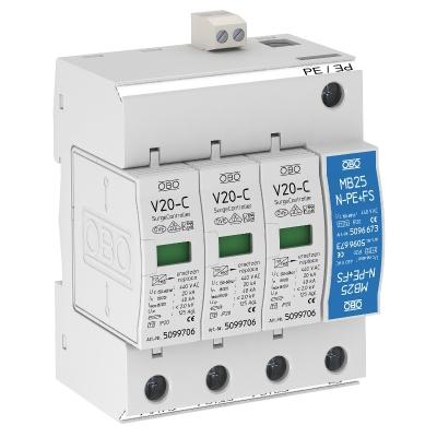 Разрядник для защиты от перенапряжений, 3-полюсный + NPE, с дистанционной сигнализацией — арт.: 5094902