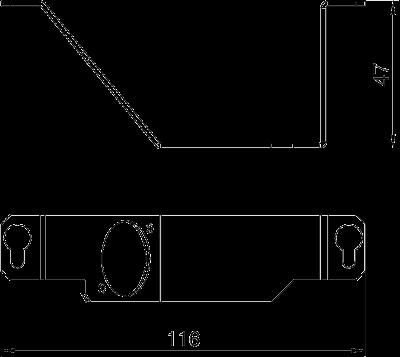 Схема Суппорт для 1го телекоммуникационного модуля типа К — арт.: 7407850
