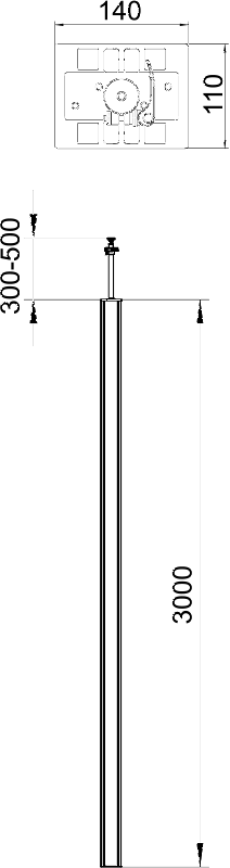 Схема Алюминиевая электромонтажная колонна ISS140110 — арт.: 6288963
