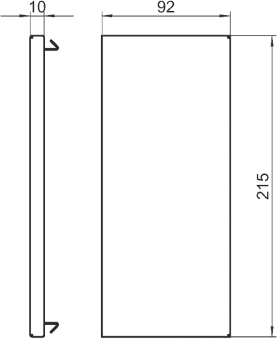 Схема Торцевая заглушка для кабельного короба высотой 90 мм — арт.: 6278170