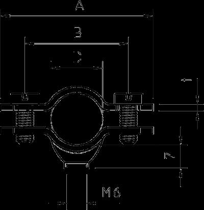 Схема Винтовая дистанционная скоба, омедненная — арт.: 1366629
