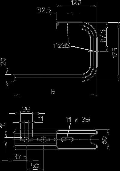 Схема Настенная и потолочная скоба TP — арт.: 6363806