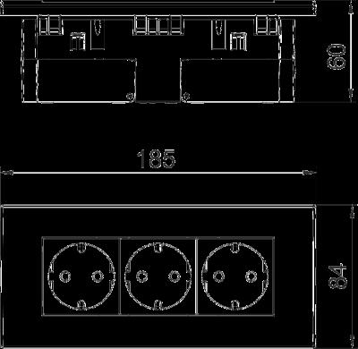 Схема Розетка AR45, тройная — арт.: 6119414