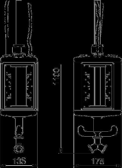 Схема Блок питания VHF-8, пустой, с соединением для пневматического рукава — арт.: 6109827