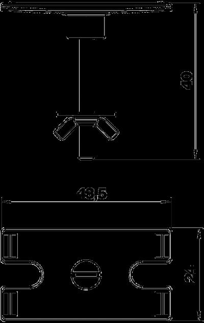 Схема Комплект для крепления настольного бокса DB на поверхности стола — арт.: 6116985
