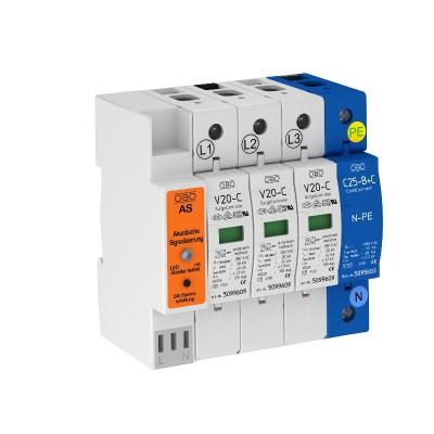 Разрядник для защиты от перенапряжений 3-полюсный + NPE, с акустической сигнализацией — арт.: 5096397