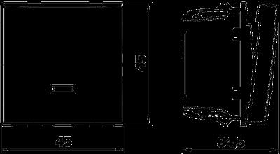 Схема Выключатель, ширина 1 модуль, со светодиодной подсветкой — арт.: 6117647