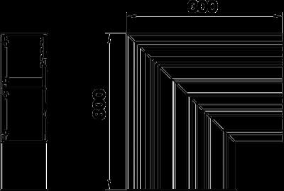 Схема Плоский угол для кабельного короба высотой 90 мм — арт.: 6279623