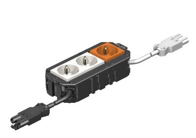 Укомплектованная монтажная коробка GB2, на 2 цепи тока, без галогенов, длина 165 см — арт.: 7404468