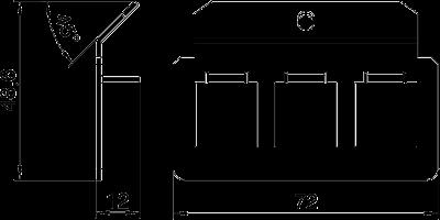 Схема Суппорт для 3х телекоммуникационных модулей типа F — арт.: 7407833