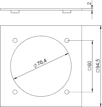 Схема Плата VH для розетки CEE — арт.: 6109837