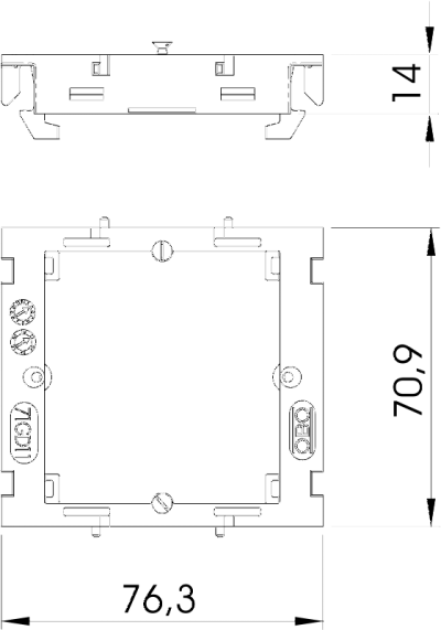Схема Монтажная рамка для телекоммуникационных устройств — арт.: 6288577