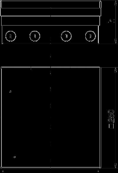 Схема Лючок UDHome9 с модульной рамкой MT4, укомплектованный, из нержавеющей стали — арт.: 7427308