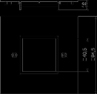 Схема Плата VH для одинарной розетки Modul 45® — арт.: 6109841