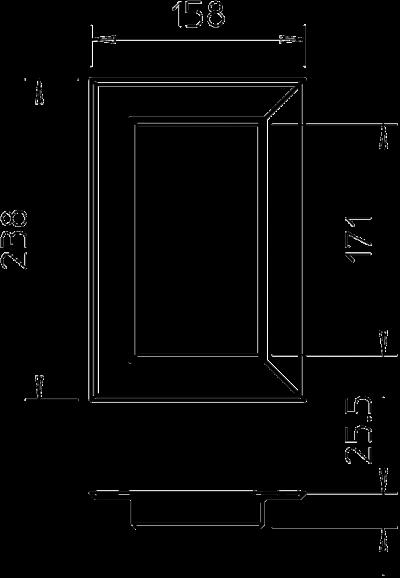 Схема Настенная торцевая заглушка из ПВХ, закрытая, для кабельных коробов 90170 — арт.: 6274970