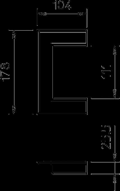 Схема Настенная торцевая заглушка алюминиевая, открытая, для кабельных коробов 70110 — арт.: 6278800