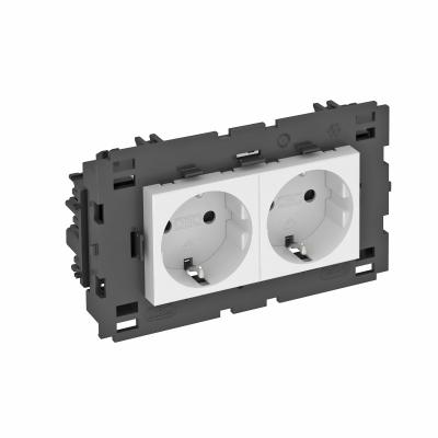 Розетка 0° Connect 80 с защитным контактом, двойная — арт.: 6120432