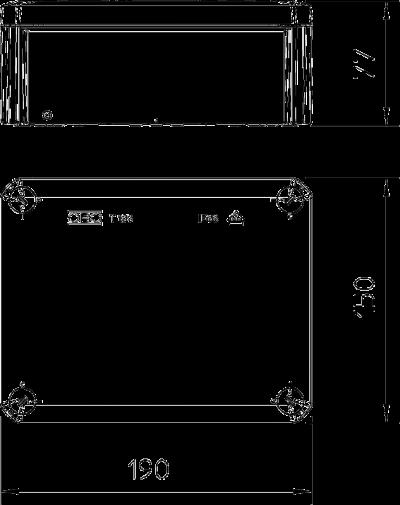Схема Огнестойкая распределительная коробка FireBox T-160 ED с внутренним креплением — арт.: 7205520