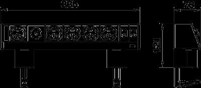 Схема Настольный бокс DB с крепежным зажимом, с соединенными розетками 1+4 и 2 разъемами RJ45 CAT 6 — арт.: 6116954