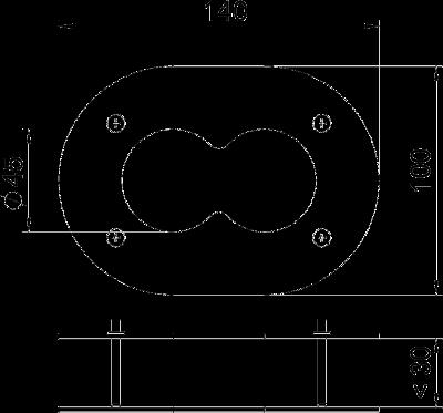 Схема Потолочная накладка для электромонтажной колонны ISS140100F — арт.: 6290382