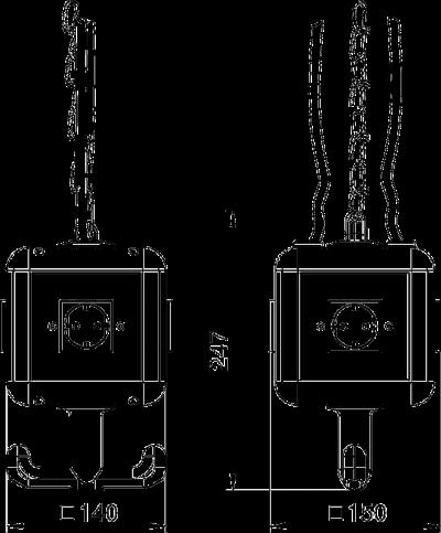 Схема Блок питания VH-4, с 4 розетками с защитным контактом — арт.: 6109802
