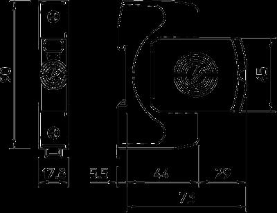 Схема Разрядник для защиты от перенапряжений V20 1-полюсный, 440 В — арт.: 5095201